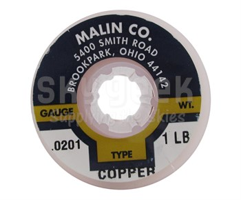 "Malin 11-0201-001S Copper 0.0201"" #24 Breakaway Wire (1 lb Roll)"