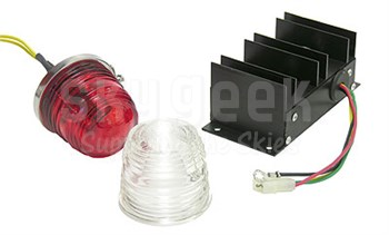 Aeroflash 157-0001R Anti-Collision Lamp Ship Set, 12 Volt/11.2 Amp, Red,