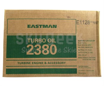 Eastman Turbo Oil 2380 Clear MIL-PRF-23699 Spec Aircraft Turbine Engine Lubricating Oil - 24 Quart Case