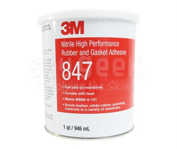3M 021200-19721 Brown 847 Nitrile High Performance Rubber and Gasket Adhesive - Quart Can