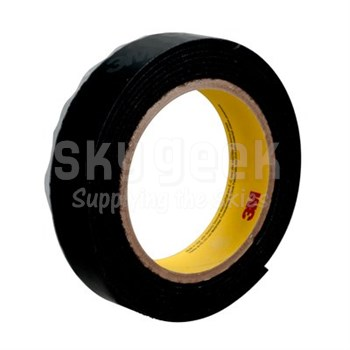 "3M 021200-62553 Black SJ3402 Hook Fastener - 1"" x 50 Yard Roll"