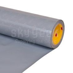 "3M 021200-86198 Gray Polyurethane Protective Tape Perforated - 24"" x 36 Yard Roll"