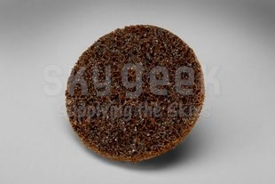 """3M 048011-04118 Scotch-Brite™ Brown 1-1/2"""" Course Surface Conditioning Disc - 200 Disc/Case"""