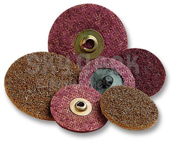 "3M 48011-18081 Scotch Brite Roloc SE Surface Conditioning Disc TR - 2"" - Coarse - Brown/Blue"