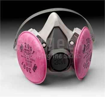 3M 051131-07001 Small 6191 Half Face-Piece Respirator (includes 2091 P100 filters) (CLEARANCE)