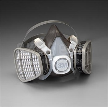 3M 051138-21577 Half Facepiece Disposable Respirator Assembly 5301 - Large