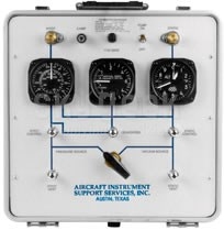 AISS Model 393DM-50K Pitot-Static Tester with Hand Pumps