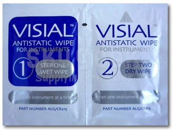 Alglas UK ALG/CR215 Visial Anti-Static Wipe for Instruments - 1+2 Twin Pack