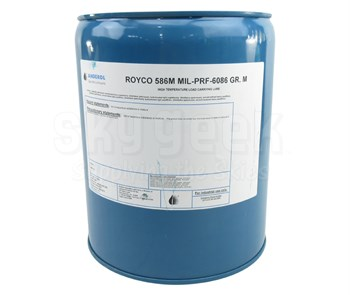 ROYCO® 586M Yellow MIL-PRF-6086 Grade M Spec Mineral Based Gear Lubricating Oil - 5 Gallon Steel Pail
