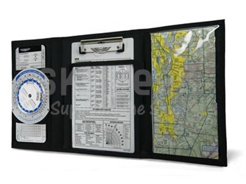 Aviation Supplies & Academics ASA-KB-3 Black Nylon Tri-Fold VFR Kneeboard