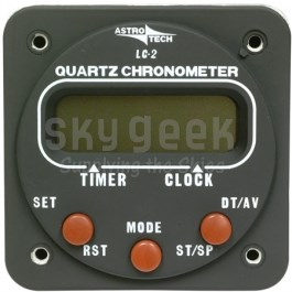 Astrotech AT420000 LC-2 Panel Mounted Chronometer - Aircraft Powered - 14 & 28 Volt Lighting