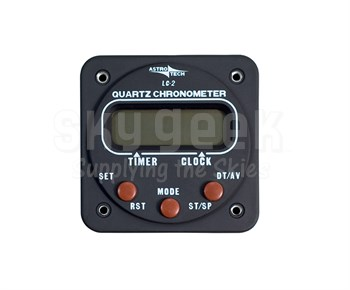 Astrotech AT420100 LC-2 Panel Mounted Chronometer - AAA Battery Power - 14 & 28 Volt Lighting