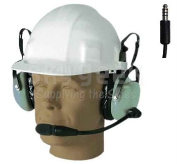 David Clark H6080 Over-the-Head 2.5-Foot Straight Cord Hard Hat Attachable Headset