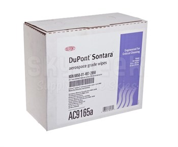 "DuPont AC9165A Sontara Aerospace Grade 9"" x 16.5"" Wipe - 100 Wipe/Pop-up Box"
