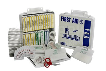 Certified Safety K201-323 FAA 121.309 Compliant First Aid Kit with Metal Case