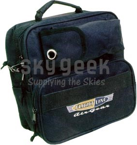 Flight Line FL-FB-30 Deluxe Padded Black Headset Bag