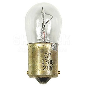 GE Lighting 1308 B6 28-Volt / 16-Watt Lamp, Incandescent