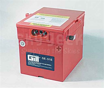 Gill GE-51E Aircraft Battery With Acid