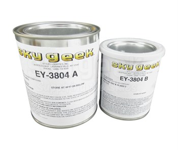 H.B. Fuller EY3804-A/B Graphite Composite Repair Compound - Quart Kit
