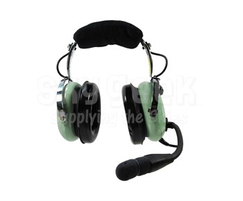 David Clark H10-20 Mono 5-Foot Straight Cord Aircraft Headset at ...