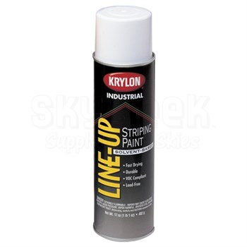 Krylon 7340 Highway White Striping Paint - 12 oz Aerosol