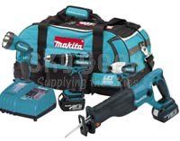 Makita LXT407 4 Piece 18V Lithium-Ion Combo Power Tool Kit