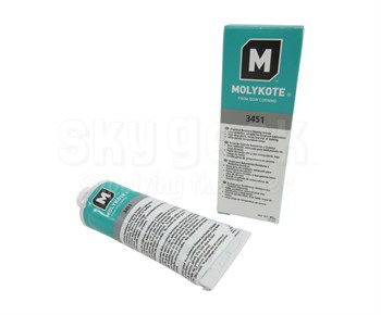 Dow Corning Molykote 3451 Chemical Resistant Bearing Grease - 3 oz Tube