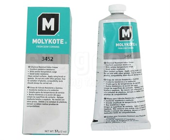 Dow Corning 2293668 Molykote 3452 Chemical Resistant Valve Grease - 57 Gram Tube