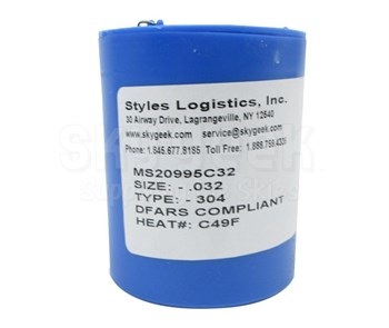 Military Standard MS20995C32 Stainless Steel Safety Wire (1 lb. Roll) - 0.032 Diameter