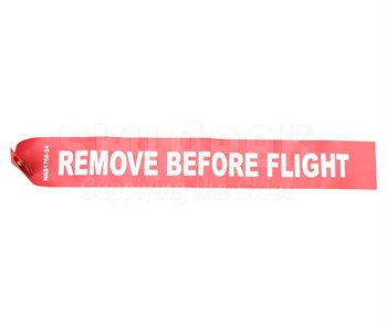 "National Aerospace Standard NAS1756-24 Red-White 24"" Remove Before Flight Streamer"