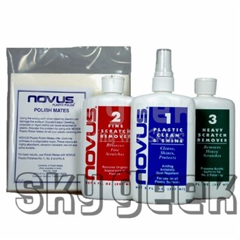 Novus Plastic Polish Kit - 8 Oz Bottles