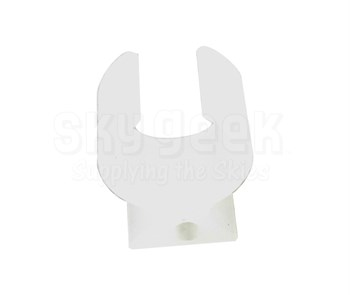 Paco Plastics S4933959-509 FAA-PMA Natural/Clear Circuit Breaker Lockout Ring with Hole - without Tag