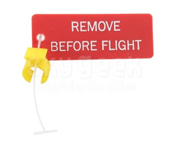 """Paco Plastics S4933959-523 FAA-PMA Yellow Circuit Breaker Lockout Ring with """"REMOVE BEFORE FLIGHT"""" Tag"""