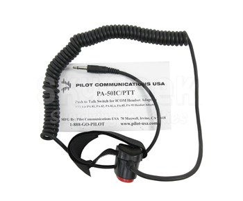 Pilot USA PA-50IC-PTT Push-To-Talk Switch for ICOM headset Adapters