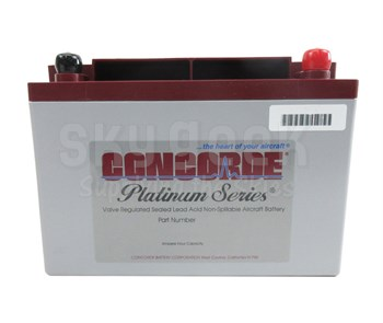 Concorde RG-35AXC 12-Volt Extra Cranking General Aviation AGM Aircraft Battery