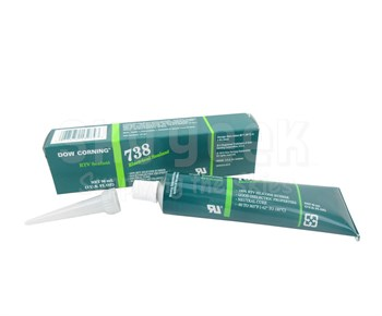 Dow Corning 738 White Electrical Sealant - 3 oz Tube