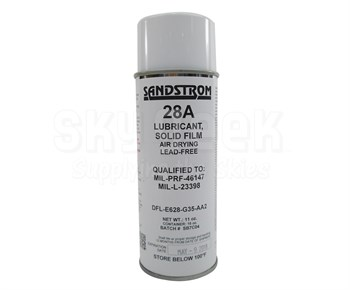 Sandstrom 28A Clear MIL-PRF-46147D Amendment 1, Type I Form 2, Color 1 Spec Solid Film Lubricant - 16 oz Aerosol Can