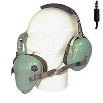 "David Clark 12512G-01 Model H7010 Over-the-Head 36"" Straight Cord Shielded Microphone Two-Way Radio Headset"