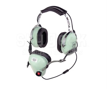 "David Clark 12514G-01 Model H5010 Black 30"" Straight-Cord Noise-Shielded Microphone Dual Ear Over-the-Head Headset"