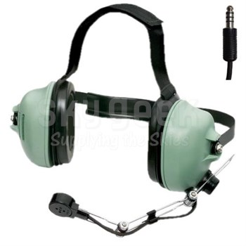"David Clark 12520G-09 Model H7041 Behind-the-Head 36"" Straight Cord (Slotted Dome) Two-Way Radio Headset"