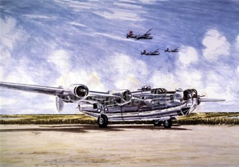 gift of wings 288 consolidated b 24 liberator christmas aviation greeting cards - Aviation Christmas Cards