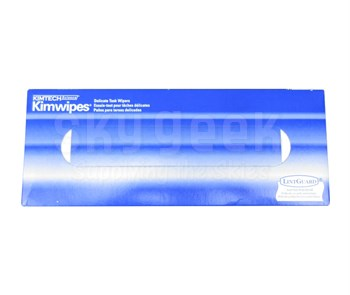 "Kimwipes® 34743 White 11.8"" x 11.8"" Light Duty Delicate Task Wipers - 119 Wipe/Pop-Up Box"