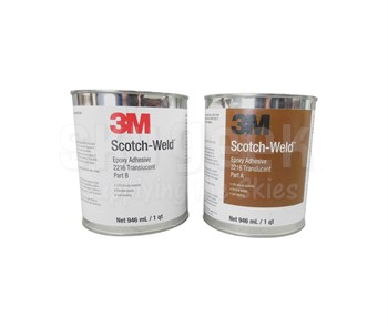 3M™ 021200-20854 Scotch-Weld™ 2216 B/A Translucent Epoxy Adhesive - Quart Kit