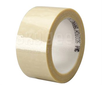 "3M™ 021200-03787 Cream 8401 Polyester 1.9 Mil Splicing Tape - 1"" x 1.9 x 72 Yard Roll"