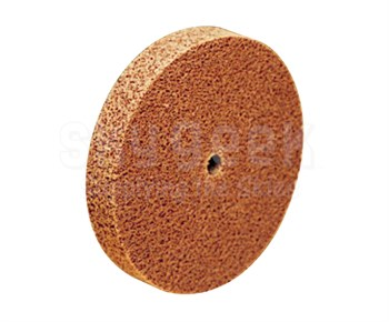 "3M™ 048011-03709 Scotch-Brite™ Cp-Uw Brown 6"" x 1"" x 1/2"" 7A CRS Cut and Polish Unitized Wheel"