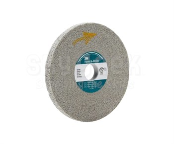 "3M™ 048011-13617 Scotch-Brite™ Xl-Wl Gray 6"" EXL Medium Deburring Wheel"