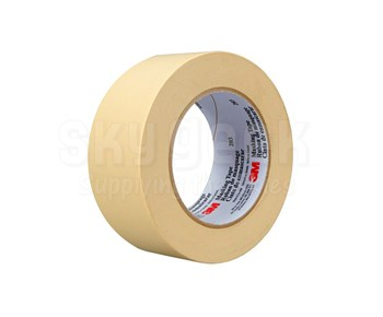 3M™ 048011-58035 Tan 203 General 4.7 Mil Purpose Masking Tape - 18 mm x 55 m Roll