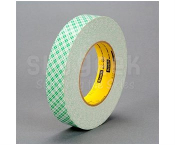 "3M™ 051115-32055 Scotch® 401M Off-White 9 Mil Double Coated Paper Tape - 1"" x 36 Yard Roll"