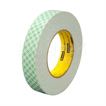 """3M™ 051115-32056 Scotch® 401M Off White 9 Mil Double Coated Paper Tape - 2"""" x 36 Yard Roll"""