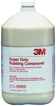 3M 051131-05955 Super Duty Rubbing Compound - Gallon Jug